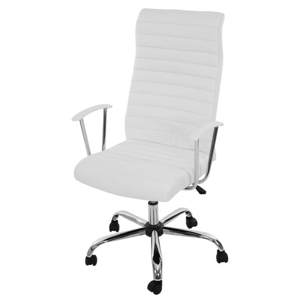 bequeme-Bürostühle-mit-schönem-Design-in-Weiß-Interior-Design-Ideen