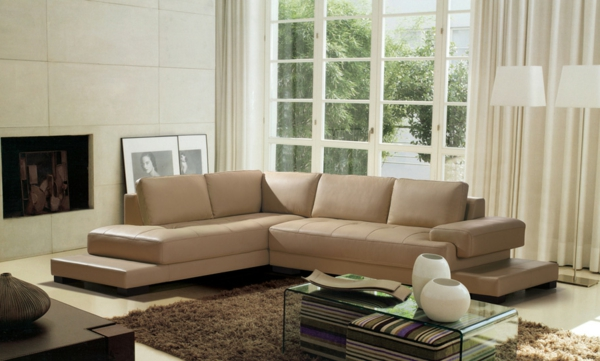 Finest Ecksofa Wunderbare Modelle Fr Ihre Wohnung With Wohnzimmer Grau Beige