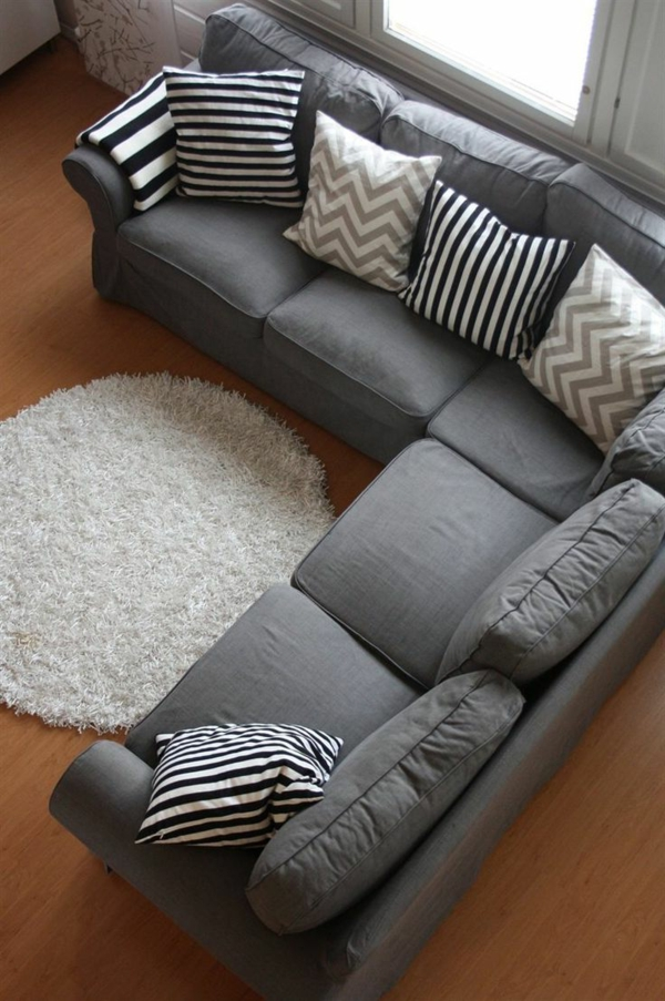 Farbe Wohnzimmer Graues Sofa Dumss