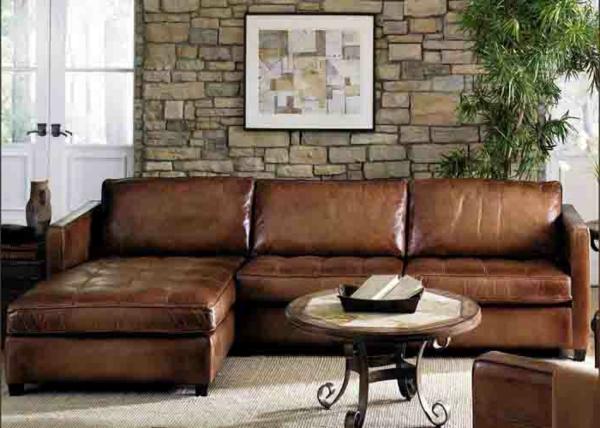 bequeme-ledercouch-braun-schöne-einrichtungsideen-für-das-wohnzimmer--