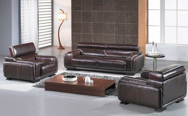 bequeme-ledercouch-braun-schöne--einrichtungsideen-für-das--wohnzimmer