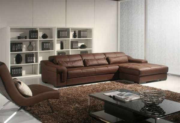 Ledercouch braun modern  Ledersofa mit fantastischem Design - 83 Beispiele! - Archzine.net