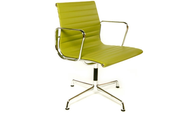 bequemer-Bürostuhl-elegantes-Modell-Büromöbel-Olivgrün