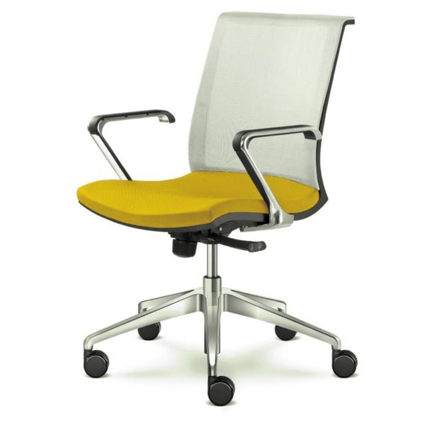 bequemer-Bürostuhl-elegantes-Modell-Büromöbel-in-Gelb