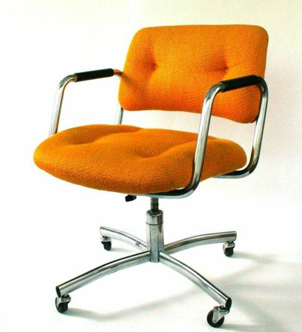 bequemer-Bürostuhl-elegantes-Modell-Büromöbel-in-Orange
