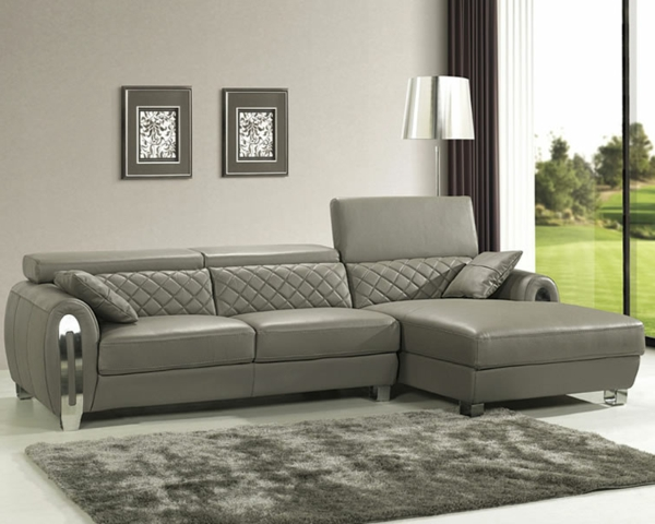 ledersofa grau interesting awesome with ledersofa grau. Black Bedroom Furniture Sets. Home Design Ideas