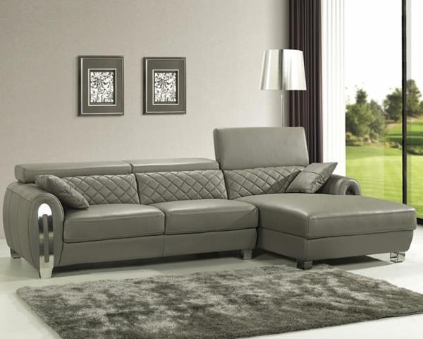 Ledercouch grau  Ledercouch - ein bequemes Möbelstück im Hause! - Archzine.net