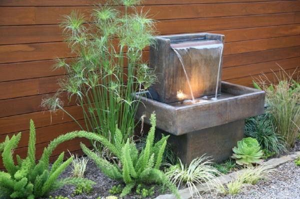 springbrunnen im garten für eine herrliche atmosphäre! - archzine, Gartenarbeit ideen
