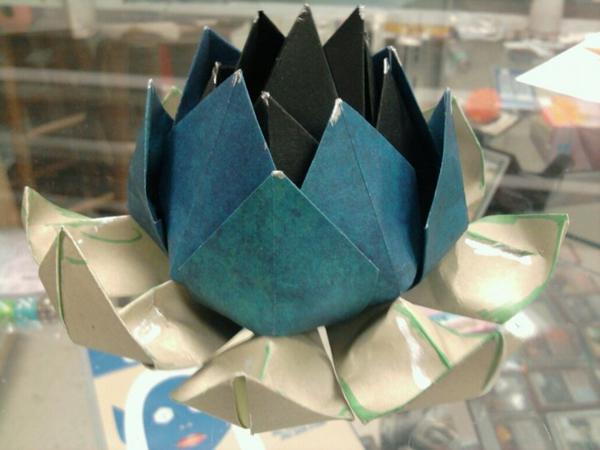 origami-blumen-wasserlilie