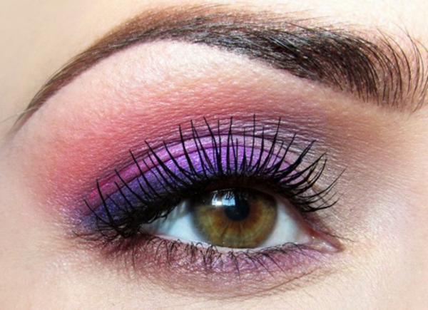Augen Schminken - lila und rosige nuancen