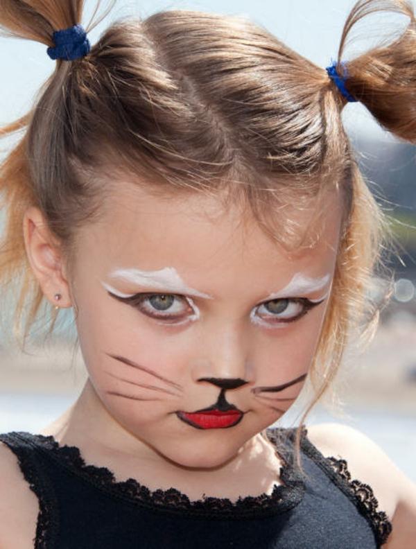 Face Paint For Children Cat