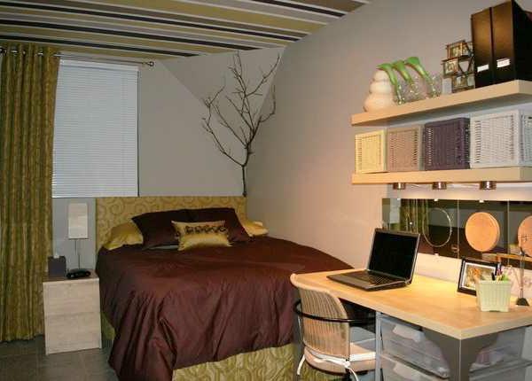 zimmerdecke streichen - kleines modernes schlafzimmer