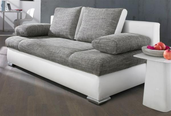 Grau Weißes Sofa sofa mit schlaffunktion - bequem und super praktisch! - archzine