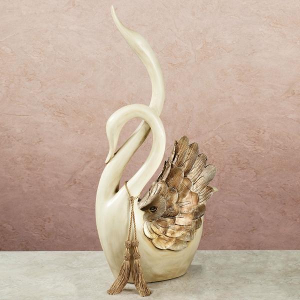 deko-skulpturen-weißer-schwan