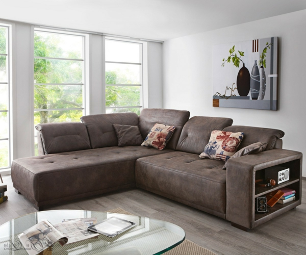 design-ideen-ecksofa-für-das-wohnzimmer-braunes-sofa