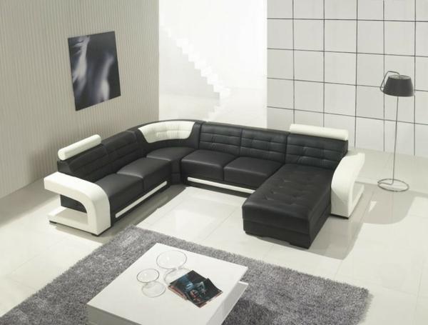 design-ideen-ledersofa-für-das-wohnzimmer -