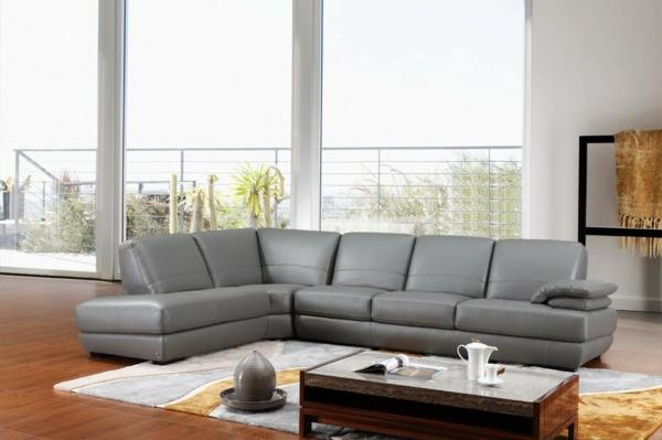 design-ideen-ledersofa-für-das-wohnzimmer -sofa-in-grau