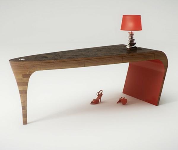 designer-tische-mit-einer-lampe-darauf