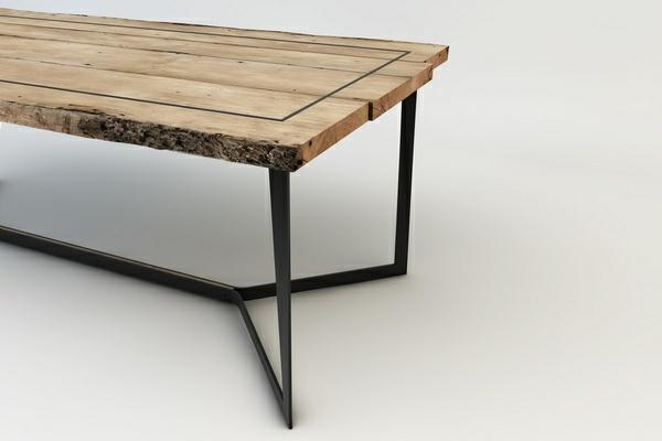 designer-tische-mit-hölzerner-struktur