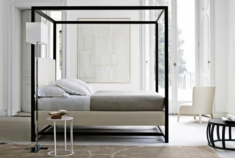 himmelbett grau bestseller shop f r m bel und einrichtungen. Black Bedroom Furniture Sets. Home Design Ideas