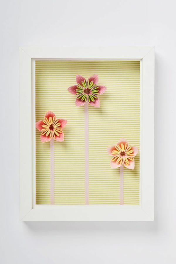 blumen-origami-bilderrahmen