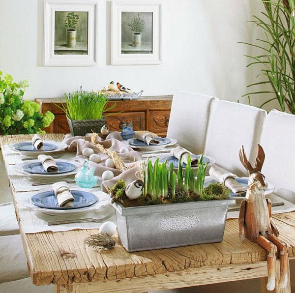 Deko wohnzimmertisch frühling  Tischdeko Frühling - 100 bezaubernde Ideen zum selber machen ...
