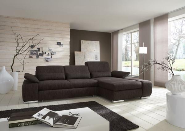 Gardinen Modern Wohnzimmer Braun : wohnzimmer farbe grau braun ...