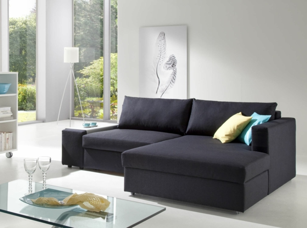 Sofa mit schlaffunktion bequem und super praktisch for Schwarzes ecksofa