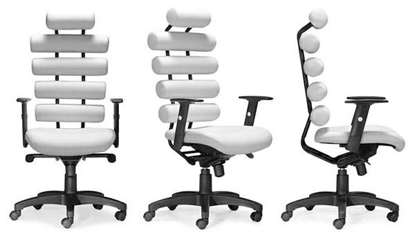 ergonomische-bürodrehstühle-gesunder-sitz-rückenfreundlich-bürosessel-weiß- Ergonomischer Bürostuhl