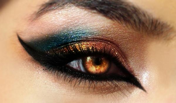 augen schminken - extravagantes make up