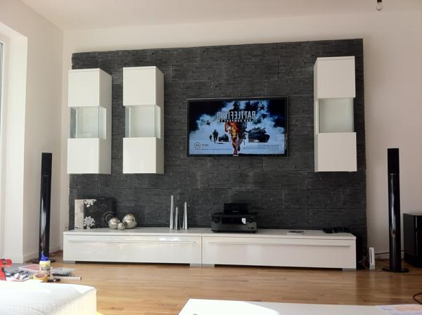 moderne fernsehwand - für einen noch angenehmen filmabend ... - Moderne Wandgestaltung Wohnzimmer