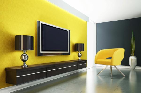 moderne fernsehwand - für einen noch angenehmen filmabend, Innenarchitektur ideen
