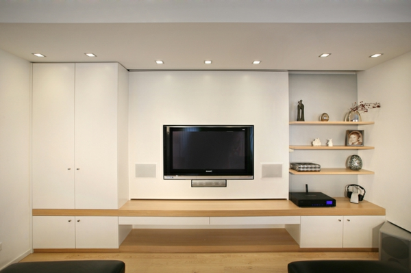 Moderne fernsehwand f r einen noch angenehmen filmabend - Interior design ideen ...