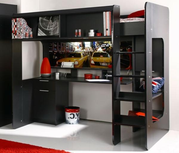 funktionelle-Kinderzimmermöbel-Hochbett-mit-einem-Schreibtisch-