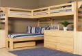 Hochbett mit Schreibtisch für das Kinderzimmer