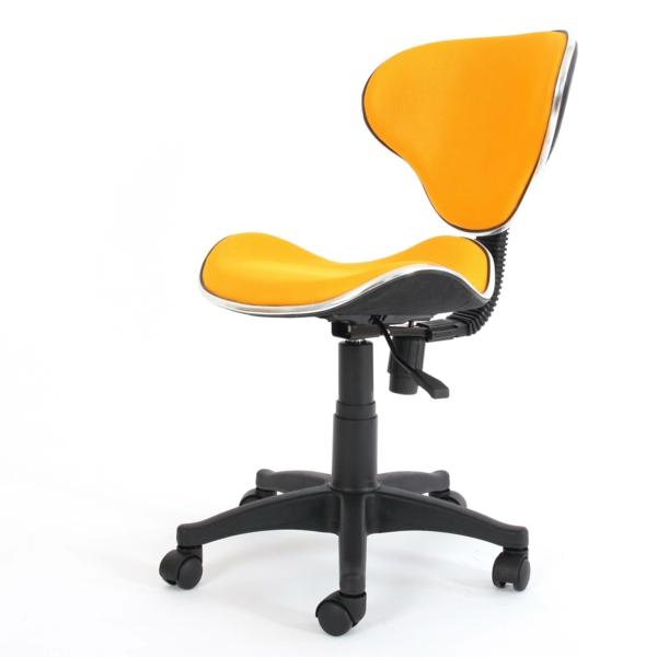 gelber-bequemer-Bürostuhl-elegantes-Modell-Büromöbel