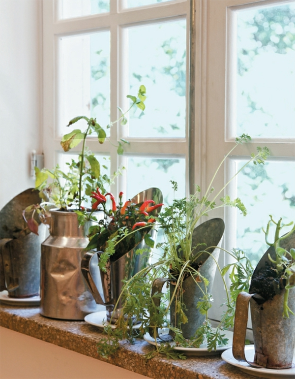 Besonders reizvolle Fensterbank Deko