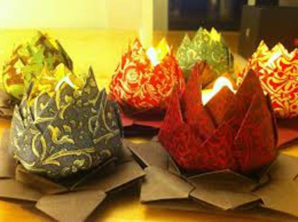 Wasserlilien-teelichter-untersetzer