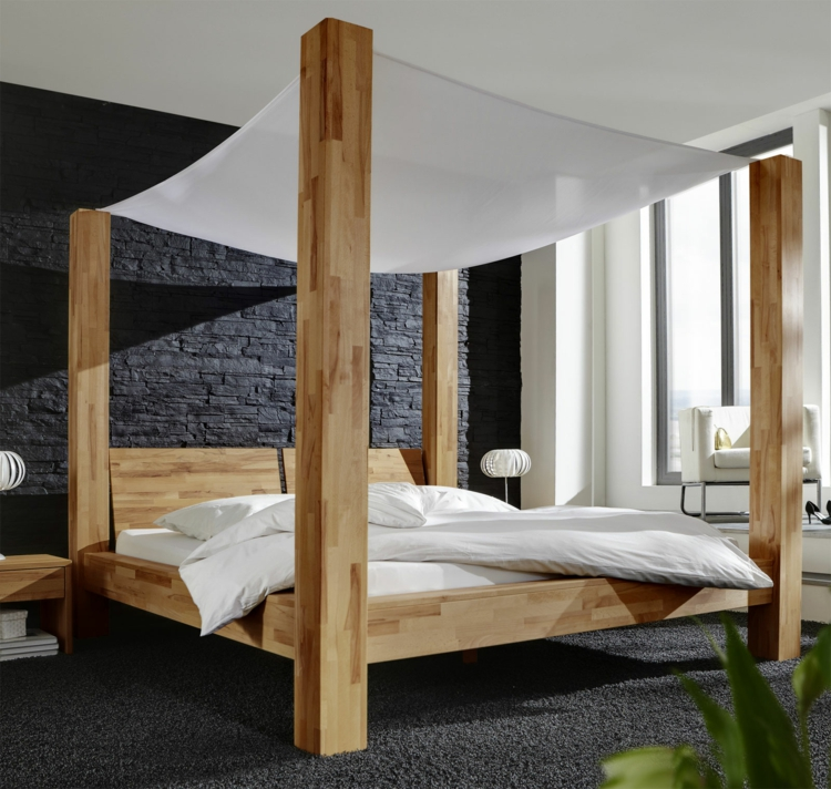 bett mit himmelbett kreative ideen f r innendekoration und wohndesign. Black Bedroom Furniture Sets. Home Design Ideas