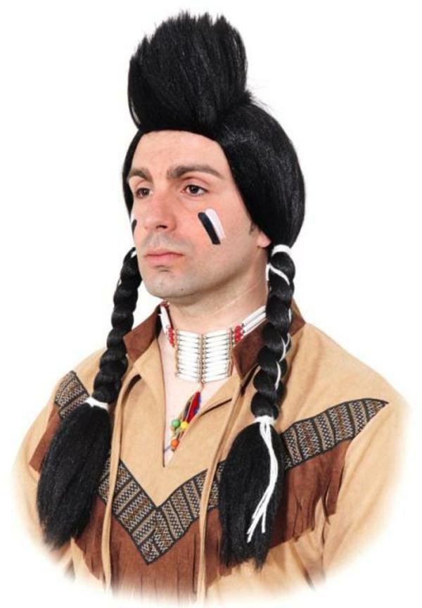 indianer-schminken-für-männer-schwarze-und-weiße-linien-auf-den-wangen