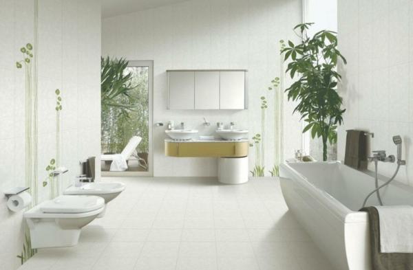 Innenraum-badezimmer-zimmer-pflanzen