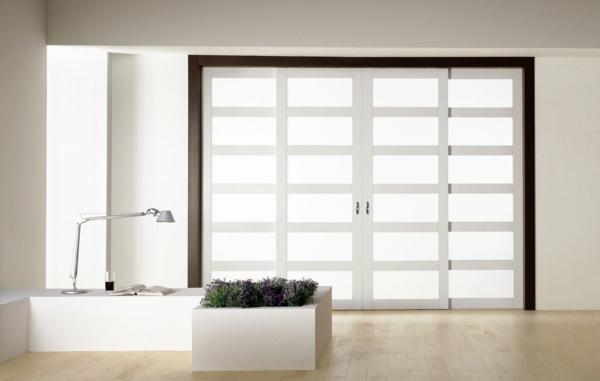 interior-design-ideen-weiße-innentüren-schöne-wohnideen-glastüren-weiß