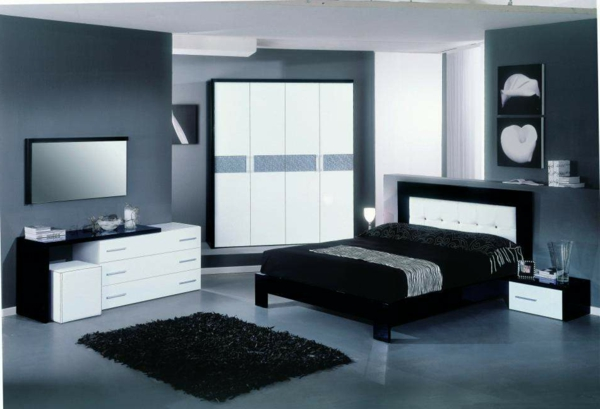 italienische-schlafzimmer-dunkler-dekorativer-teppich