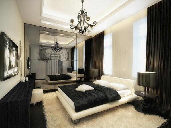 Modernes schlafzimmer einrichten 99 sch ne ideen for Chambre baroque noir et blanc
