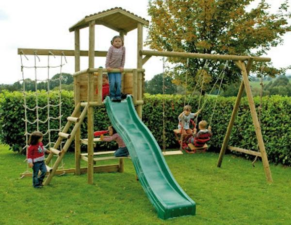Klettergerüst Für Kinder Im Garten ~ Kreative Ideen für ...