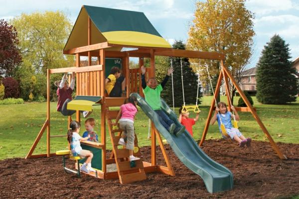 Gartengestaltung Kinder speziell für kinder klettergerüst im garten archzine