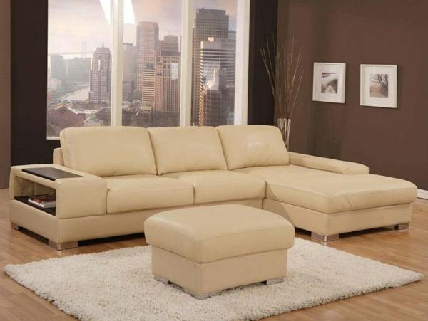Komforatble Ledercouch Braun Schöne Einrichtungsideen Für Das Wohnzimmer