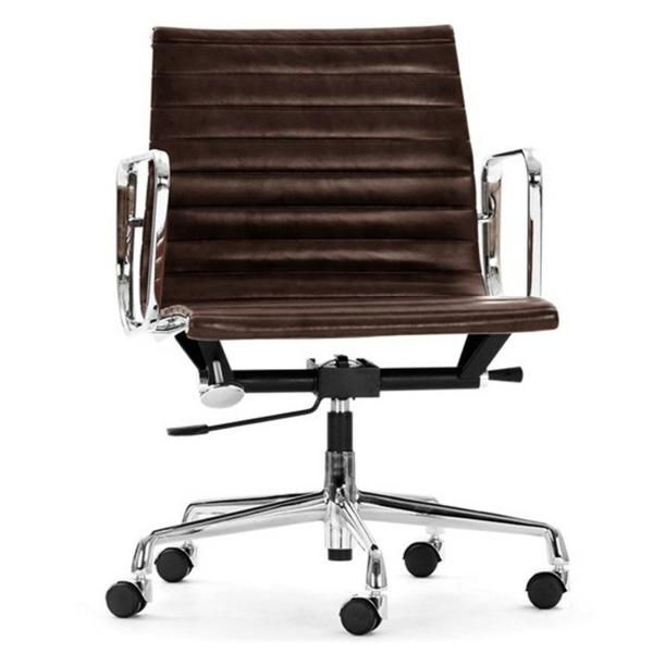 komfortable-Drehstühle-mit-modernem-Design-Leder-Braun