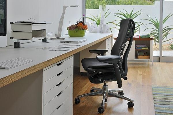 komfortable-Drehstühle-mit-modernem-Design-Leder-Schwarz