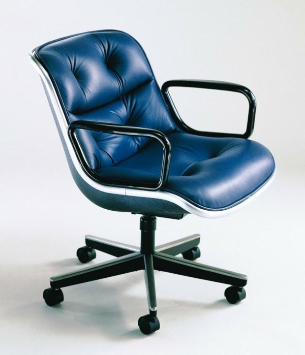 komfortabler-Drehstuhl-mit-modernem-Design-Lederstuhl-in-Blau